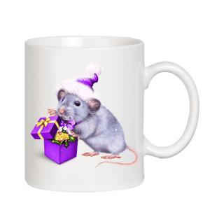 Новогодняя чашка - год Крысы
