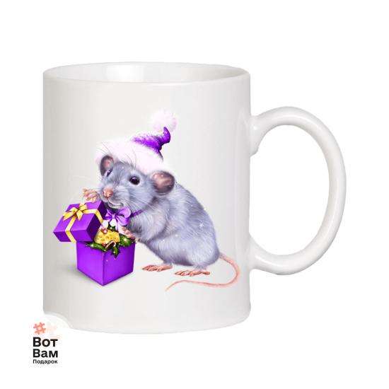 Новогодняя чашка - год Крысы купить в Харькове