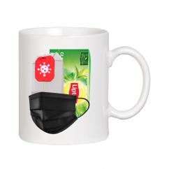 Прикольная чашка на время Короны Вируса