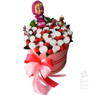 Маршмеллоу и малинки в коробке купить в Харькове