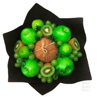 Букет с яблоками и кокосом купить в Харькове