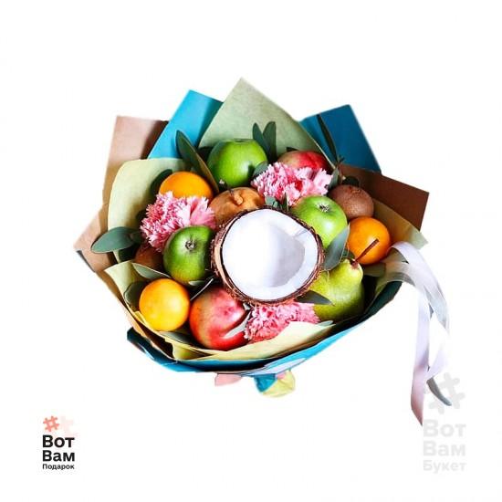 Букет с кокосом и фруктами купить в Харькове