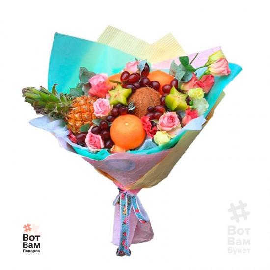 Букет с тропическими фруктами купить в Харькове