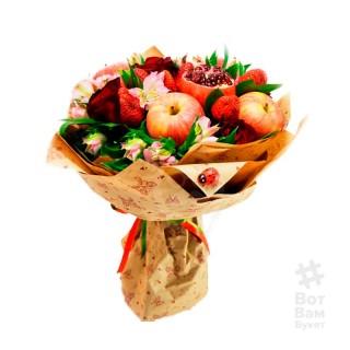 Букет из яблок и цветов купить в Харькове