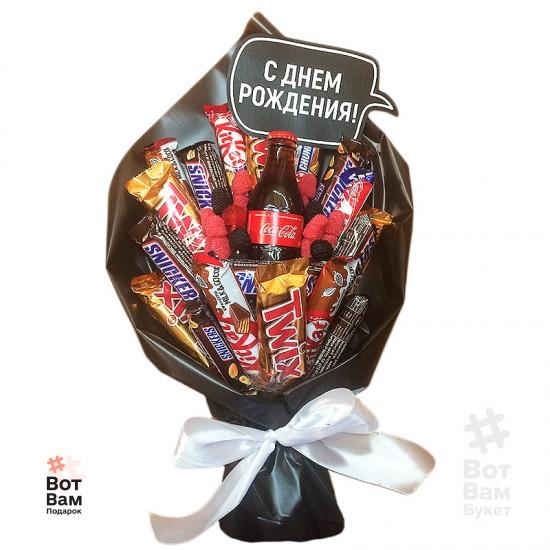 Букет с колой и шоколадками купить в Харькове