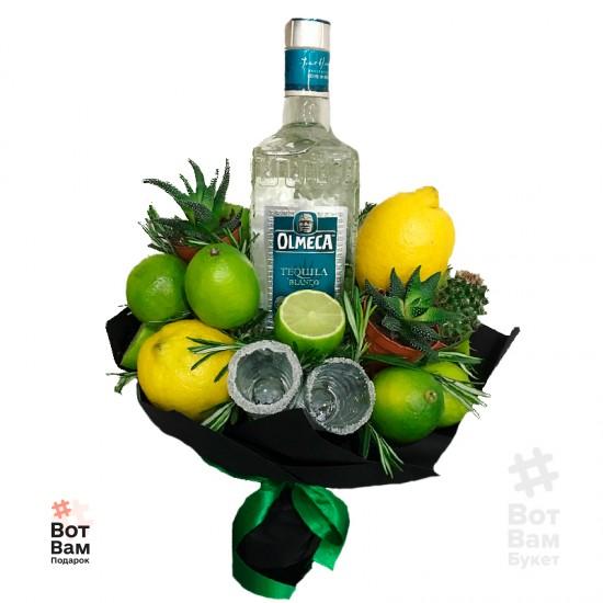 Букет с кактусом и текилой купить в Харькове