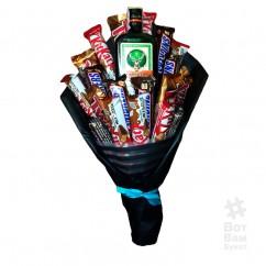 Алкогольный букет из конфет