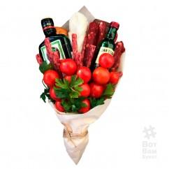 Букет с алкоголем и помидорами