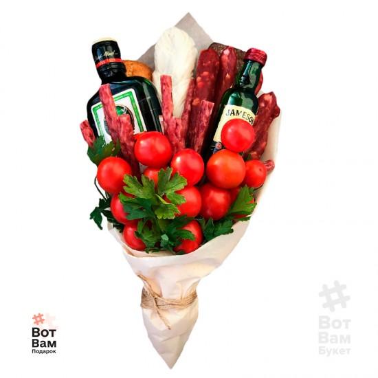 Букет с алкоголем и помидорами купить в Харькове