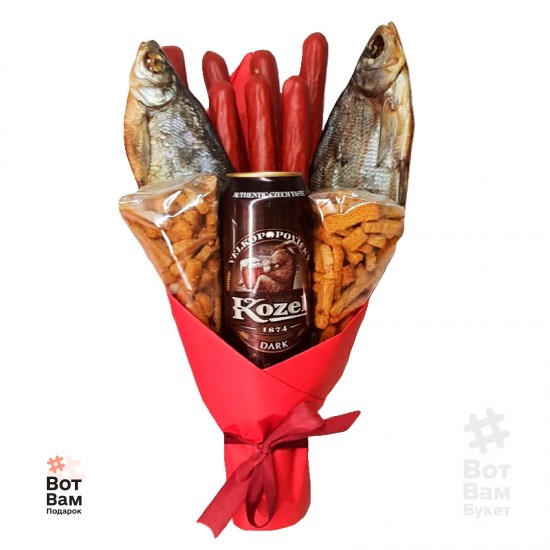 Мужской букет пиво и рыба купить в Харькове