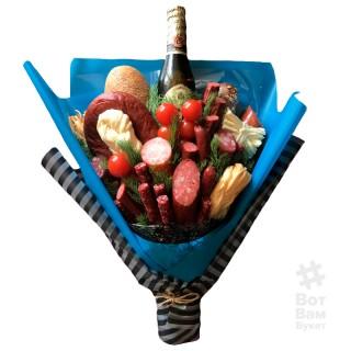 Мужской букет 5 видов колбасы и пиво купить в Харькове