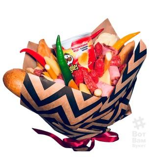 Букет с колбасой и чипсами купить в Харькове