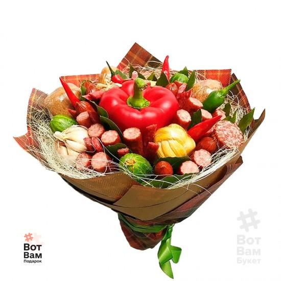 Букет из колбасок с перцем купить в Харькове