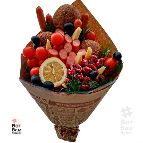 Букет с колбасой и булочками купить в Харькове