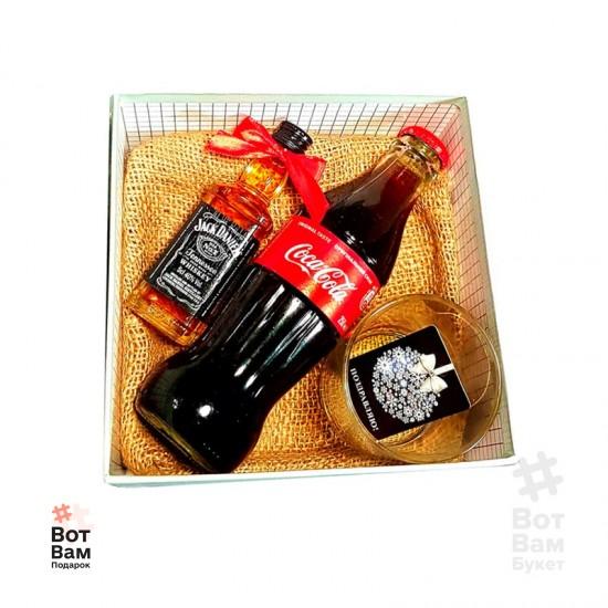 Подарочная коробка с виски и колой купить в Харькове