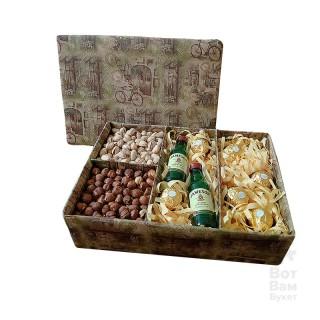 Подарочная коробка с орехами и виски купить в Харькове