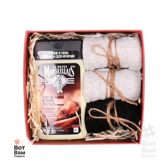 Подарочная коробка с гелем для душа