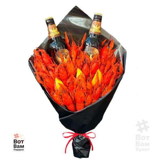 Букет с полутемным пивом и раками купить в Харькове