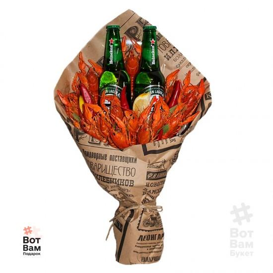 Букет из раков и 2 пива купить в Харькове