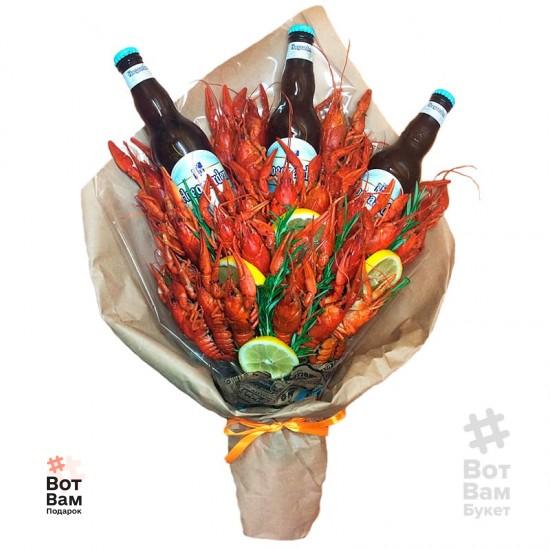 Букет 34 рака и 3 пива купить в Харькове